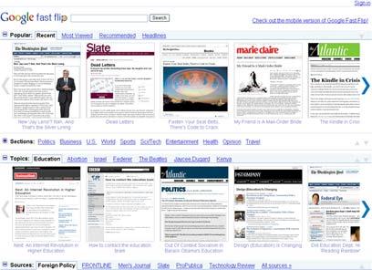 google-flip-pages